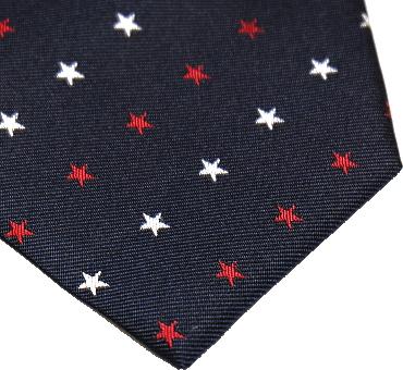 ネクタイ 星柄 素材アップ