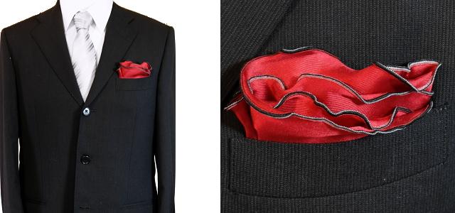 スーツ ポケットチーフ