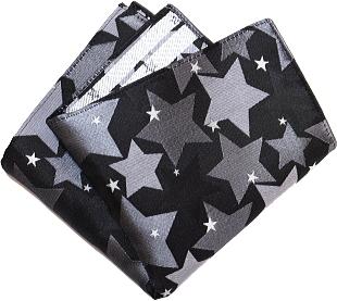 ポケットチーフ 星柄 黒