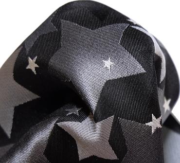 ポケットチーフ 星柄 素材アップ